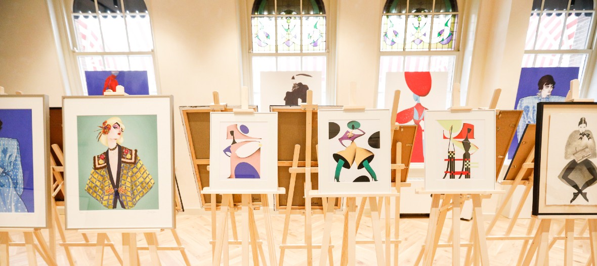 De Fashion Illustration Exposition is nog tot morgen Open!